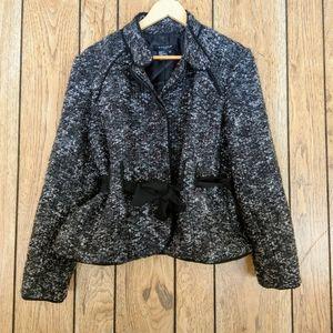 Sandro Sportswear Belted Tweed Jacket